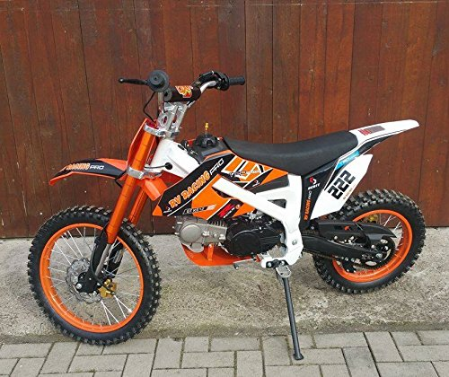 125ccm Dirtbike Pitbike 4 Takt 4 Gang Manuell 17/14 Zoll Orange 125cc Motor Enduro Cross Bike Motocross Motorrad
