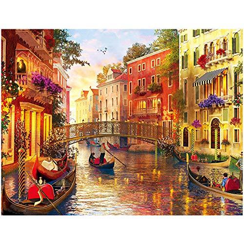 Rompecabezas de madera para adultos 1000 unids rompecabezas Venecia paisaje DIY montaje pinturas padre niño juegos niños juguetes