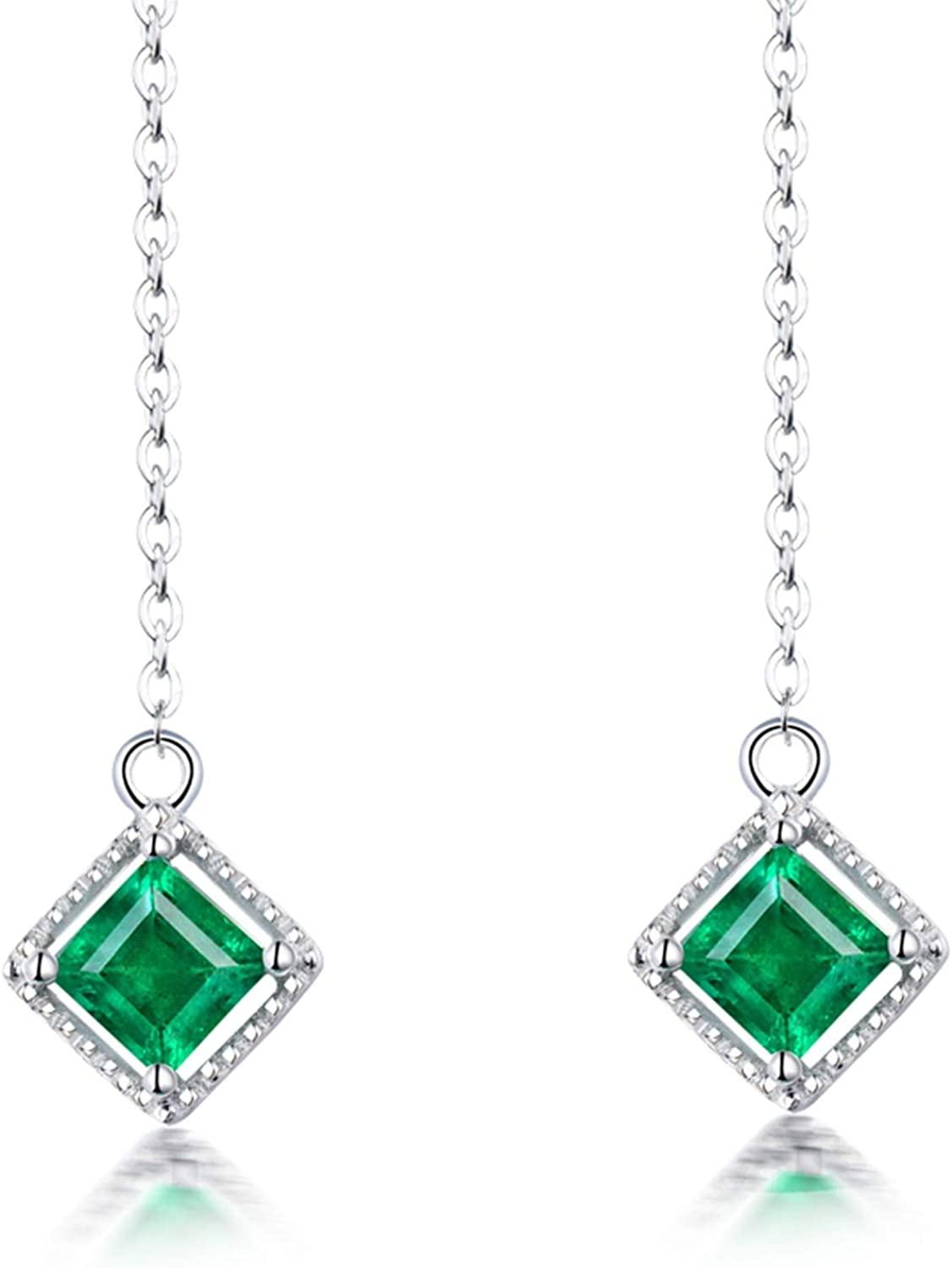 OFFicial mail order Aokarry Fine Jewelry - 18K White Gold Lo Women For Earrings Drop Weekly update