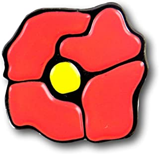 Poppy Enamel Pin, Cute and Perfect Accessory for Backpack, Jacket, Lapel, or Hat