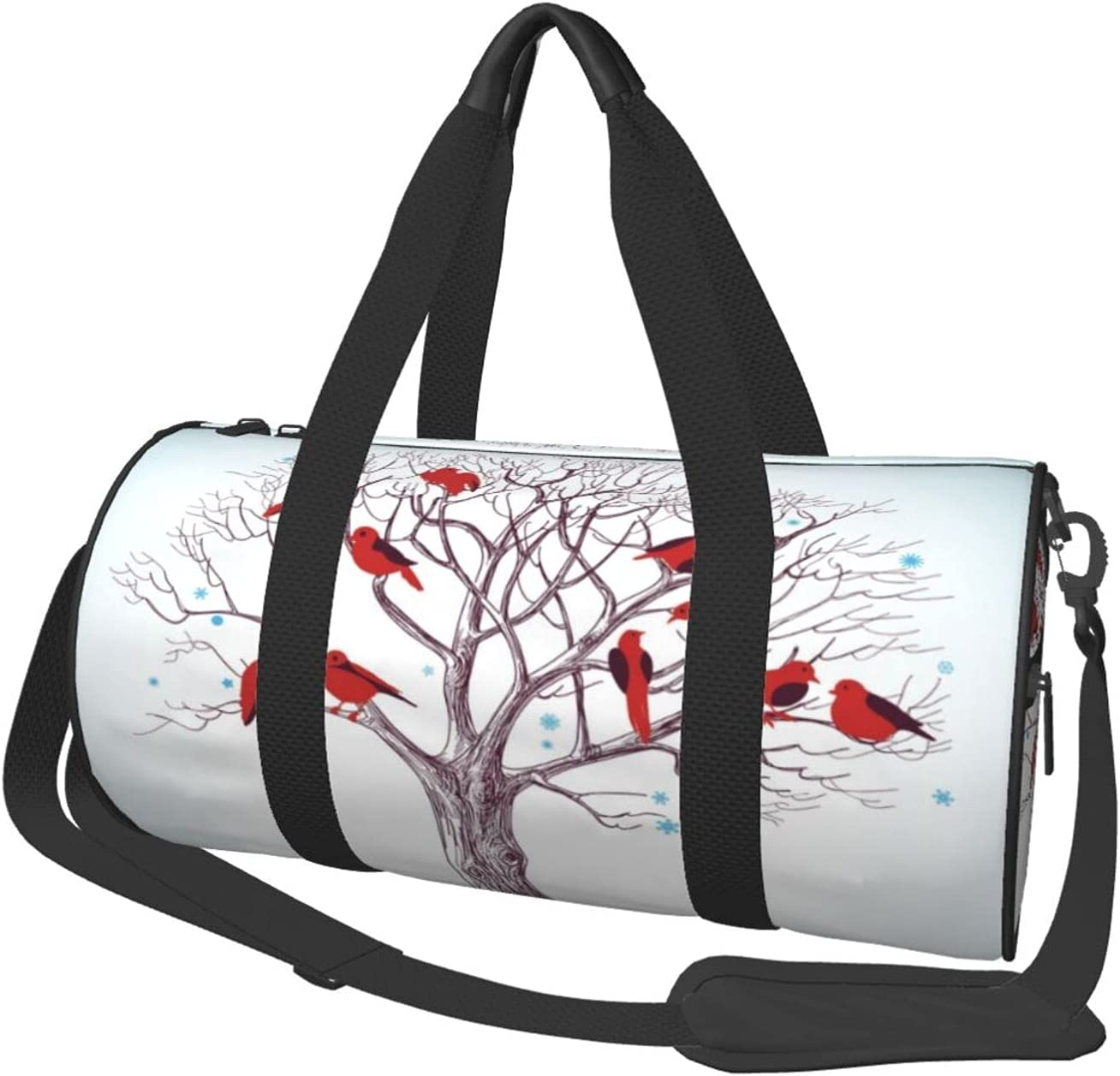 Luckytagy Birds Tree Personalized Denver Mall Duffel Women Bag Limited Special Price Fitness Men S