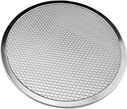 Yamalans Aluminum Thicken Non-stick Net Round Pizza Mesh Pan Baking Tray Kitchen Tool Silver 8 inch