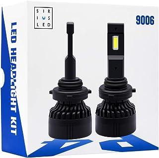 SIRIUSLED P4 9006 Performance Focus Ultra Bright 12000 Lumen LED Headlight Bulb Conversion Kit Set External Driver Pure Wh...