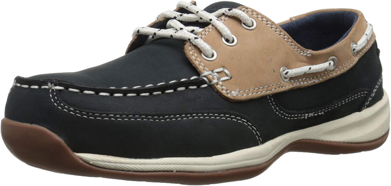 Rockport Work Women's Sailing Club 9. Daily bargain sale Tan Shoe Blue List price RK670