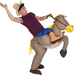 Adult Horse Ride On Inflatable Costume Fancy Dress Outfit Mens Womens Costumes