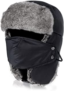 VBIGER Trooper Trapper Hat Winter Windproof Ski Hat with Ear Flaps and Mask Warm Hunting Hats for Men Women