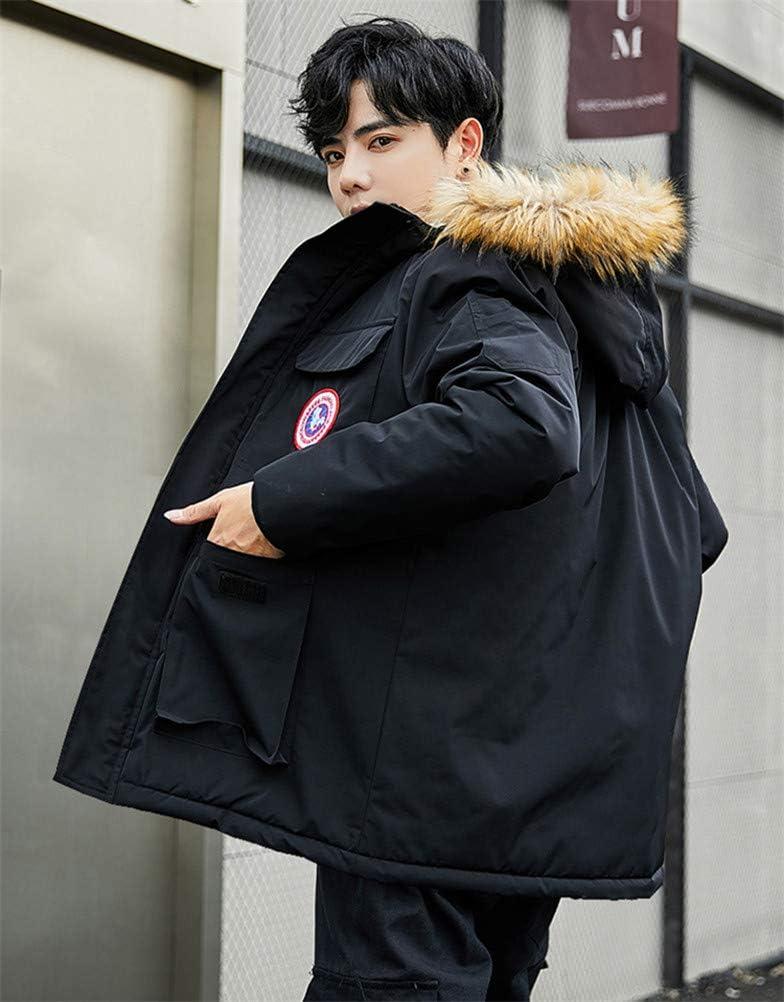 WANHONGYUE Anime Naruto Parka à Capuche Veste Manteau Adulte Cosplay Hiver Chaud Sweat-Shirt Jacket Blouson Noir/4