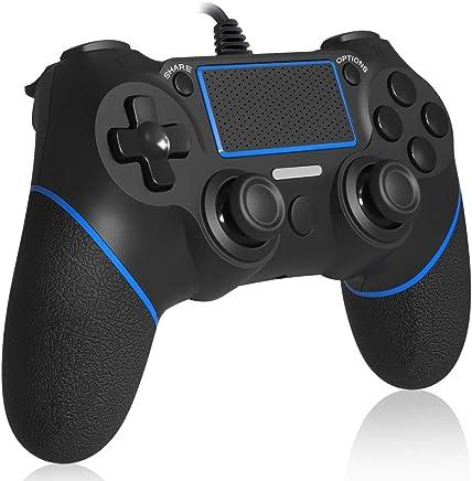 【HD振動機能搭載】PS4 コントローラー NIJIAKIN PS4 Pro/Slim/PS3/PC対応 ゲームパッド USB 接続 【日本語説明書付き】ゲームコントローラー