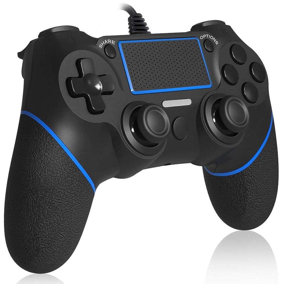 無許可コンパスハイキング【HD振動機能搭載】PS4 コントローラー NIJIAKIN PS4 Pro/Slim/PS3/PC対応 ゲームパッド USB 接続 【日本語説明書付き】ゲームコントローラー