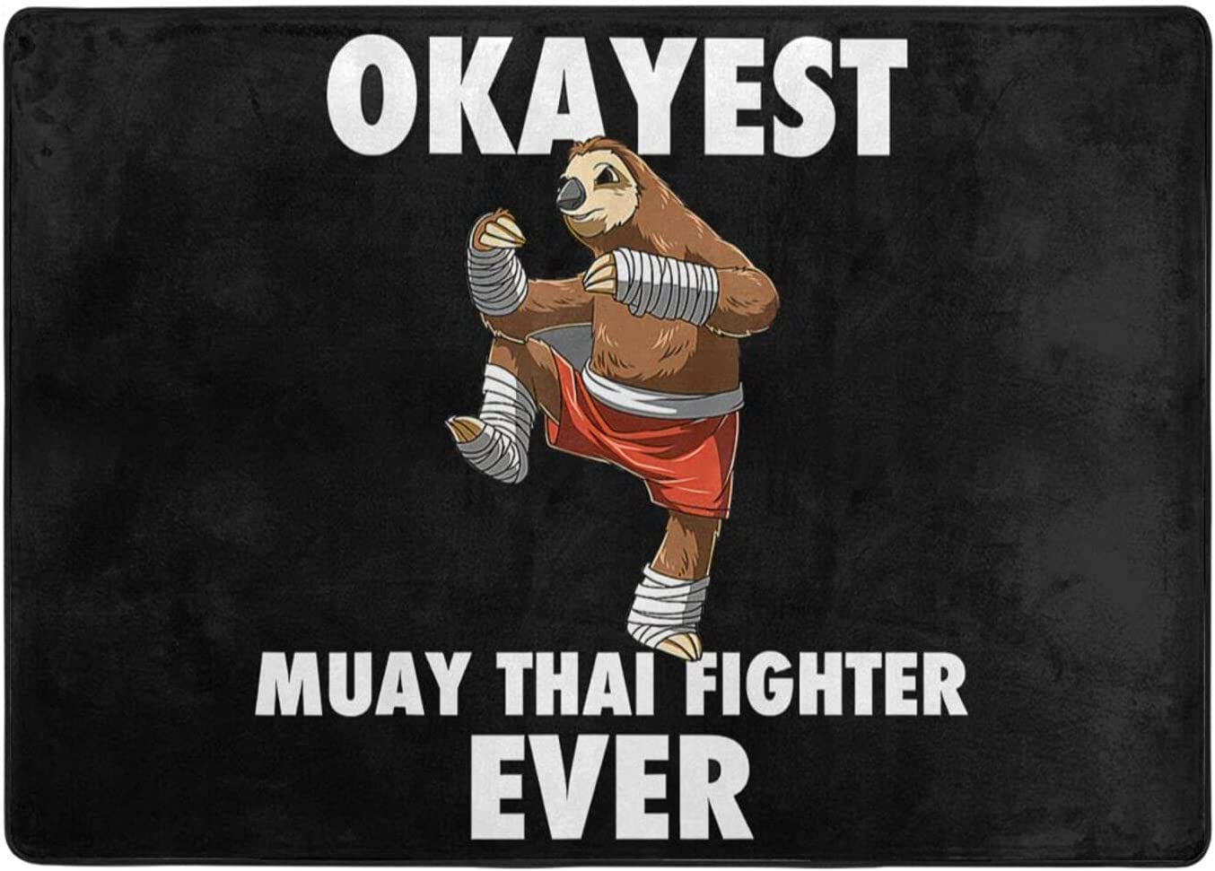 wobzfrok Funny Okayest Sloth Fighter Ever Novelty a 2021 Doormat Sale Home
