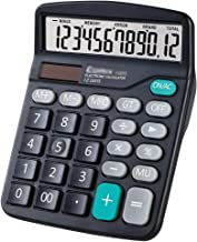 $21 » Calculator Calculator,12-Digit Solar Battery Office Calculator with Large LCD Display Big Sensitive Button, Dual Power Des...
