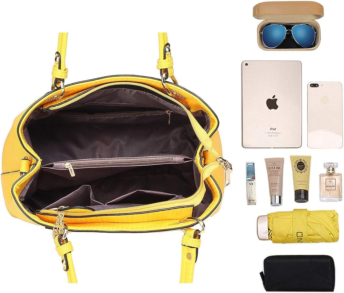NIYUTA Bolsos de mano Mujer Bolsos bandolera Moda Bolsos totes Shoppers y bolsos de hombro 3 piezas es169
