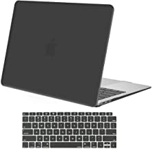 MOSISO MacBook Air 13 inch Case 2019 2018 Release A1932 with Retina Display, Plastic Hard Shell Case & Keyboard Cover Skin Only Compatible with MacBook Air 13 with Touch ID, Space Gray