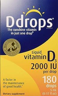Ddrops Liquid Vitamin D3 2000 IU, 5 ML