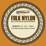 D'Addario BEB031W - Juego de cuerdas para guitarra de bronce y nylon.031 (extremo de bola)