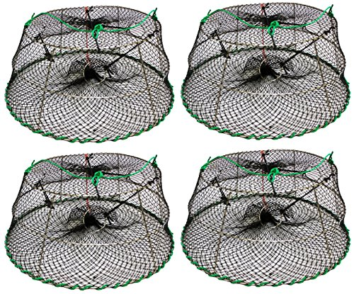 KUFA SPORTS Tower Style Stainless Steel Prawn Trap Size: 30' X 20'X 12' (4-Pack combo) (Stretched Mesh Size: 1-1/8') CT76x4'