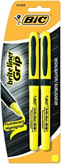 BICGBLP21YW - Brite Liner Grip Highlighter, Chisel Tip, Yellow, 2 Pack