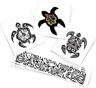 Turtle Trio Pack Temporary Tattoos | Skin Safe | MADE IN THE USA| Removable