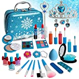 Sendida Kids Makeup Kit for Girls, Kids Play Frozen Washable Makeup Kit Cosmetics Toys Gift for Little Girls Toddlers Dress up Set, Birthday Gift Toys for 4-6 Years Girls
