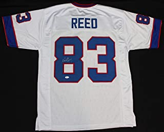 Andre Reed Autographed White Buffalo Bills Jersey - Hand Signed By Andre Reed and Certified Authentic by JSA - Includes Certificate of Authenticity - Inscribed HOF 14