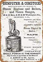 蒸気機関 金属板ブリキ看板警告サイン注意サイン表示パネル情報サイン金属安全サイン