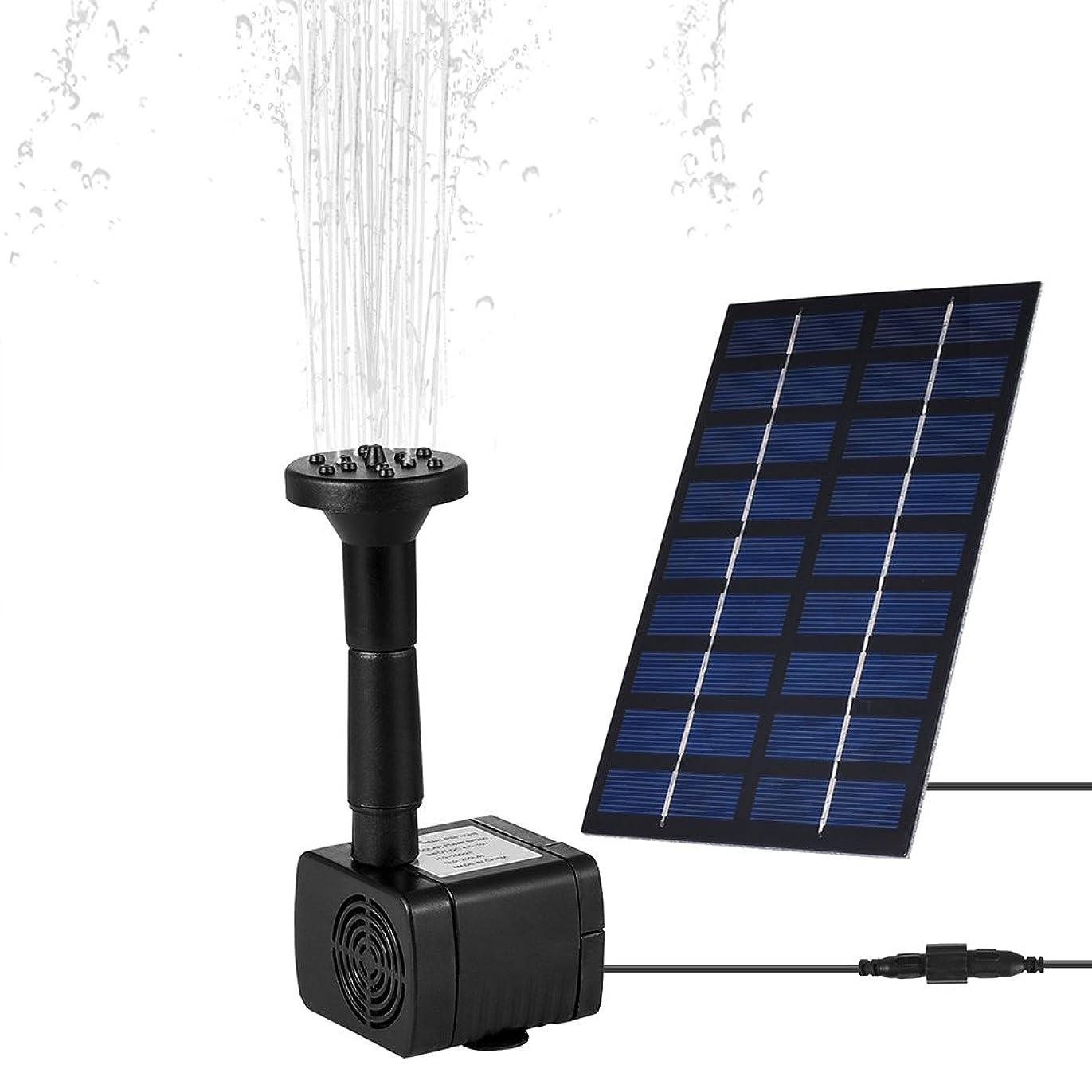 ホップ冷蔵庫ホイットニーLEDGLE ソーラーミニ噴水 1.8W ソーラー池ポンプ 庭の噴水用 省エネ 池ポンプ 吐出量150 L/h