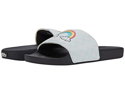 Vans Kids Slide-On (Big Kid) (Rainbow/True White) Girl