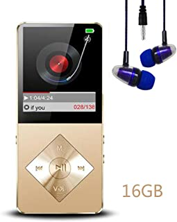 Mp3 Player, Music Player, Hotechs 16GB MP3 Player Hi-Fi Sound, Portable Audio Player with FM Radio, Recording Function Bui...