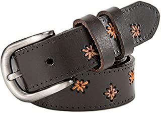 Women's Comfortable Belt Women's Embroidered Leather Belt Formal Casual Clothing Accessories Adjustable Belt for Female for Tights Leggings Jeans Uniforms