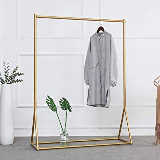 Modern Clothing Rack Display Rack Clothes Rack for Hanging Clothes Heavy Duty Metal Garment Rack Perfect for Home or Cloth Store(Gold)