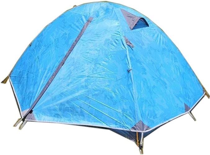 TZQ Adventure Double Professional Aluminium Camouflage Tents,bleu