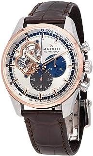 Zenith El Primero Auto Chronograph 18kt Rose gold & stainless steel case Mens Watch 51.2080.4061/69.C494