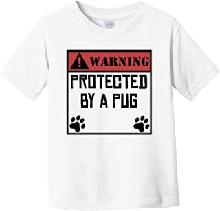 Warning Protected by A Parson Russell Terrier Funny Infant Toddler T-Shirt