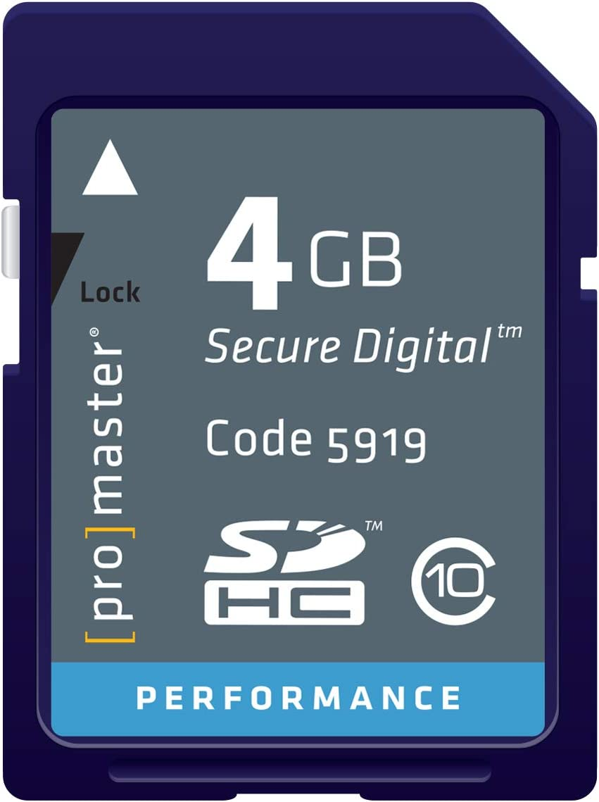 Promaster Performance SDHC 4GB Memory Card