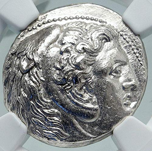 1000 GR ALEXANDER III the Great Genuine Ancient AR Greek Tetradrachm MS NGC
