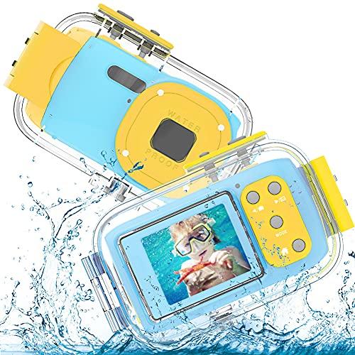 Cámara subacuática para niños 8MP HD 1080P vídeo, 2.0 pulgadas, cámara digital impermeable para las vacaciones