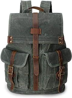 XHHWZB Backpack Vintage Large Capacity Water-Resistant Bookbag Outdoor Traveling Multi Functional Rucksack