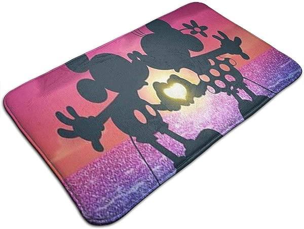 Duwamesva Bath Mat Lovely Mickey Mouse Design Non Slip Absorbs Soft Rug Carpet For Indoor Outdoor Patio