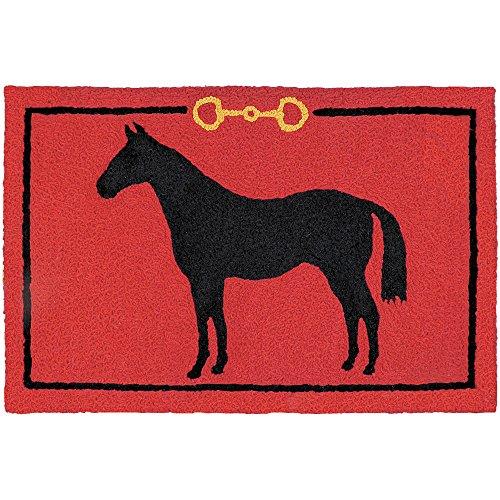 "Jellybean Hunter Jumper HORSE Indoor/Outdoor Machine Washable 21"" x 33"" Accent Rug"