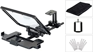 FILMCITY Universal iPhone Smartphone Ipad Tablet Teleprompter Kit Hood, Gloves, Bag for Film & Video Production, Online & Social Media Videos (FC-TP-EZ)
