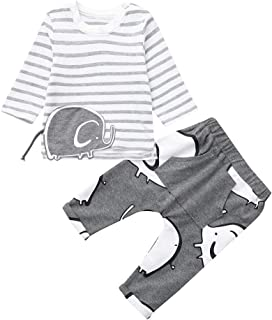 Streifen Hosen Kinder Kleidung Junge Herbst Jungen Langarm Solid Tops T-Shirt Baywell Kinder Jungen Casual Kleidung Set