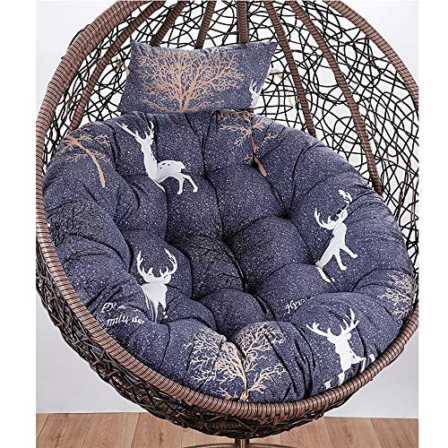 HANSHAN Papasan Chair Cushion-Color Rocking Chair Cushions for Indoor Outdoor-Garden Egg Hammock Seat Cushion-Easy to Clean-Diameter:120cm(47.24inch) (Color : D)