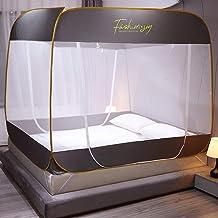 WBHD Teepee tält vuxen myggnät säng tak för storlek säng, finaste hål, tak insektsskärm, 3 ingångar, lätt att installera (...