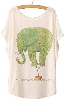 NEW Fashion Women Tops Tees Cute Dream Catcher Printing Cotton T-shirt Women's Short Batwing Sleeve Tshirt on Sale