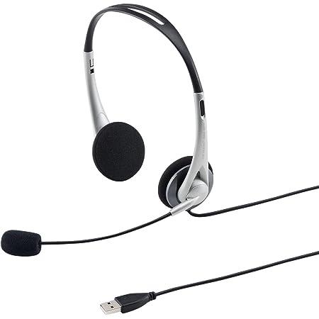 サンワサプライ USBヘッドセット/ヘッドホン 有線 無(全)指向性マイク 軽量 Skype Zoom Teams対応 シルバー MM-HSUSB16SV