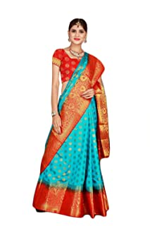 cb5f9cf4c6 Blues Women's Sarees: Buy Blues Women's Sarees online at best prices ...