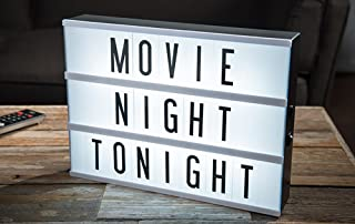 Cinema Lightbox with 109 Letters, Numbers and Symbols