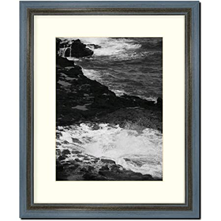 """Modern 1/"""" Wide White Picture Frame with White Mat Home Decor Frames By Mail"""