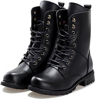 [ジルア] レースアップ ショート ブーツ 22.0cm ~ 26.5cm ローヒール 靴 紐 ブラック レディース #062