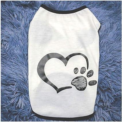 Hibeilinq Camisa de la capa del perro del gato ropa de perro ...